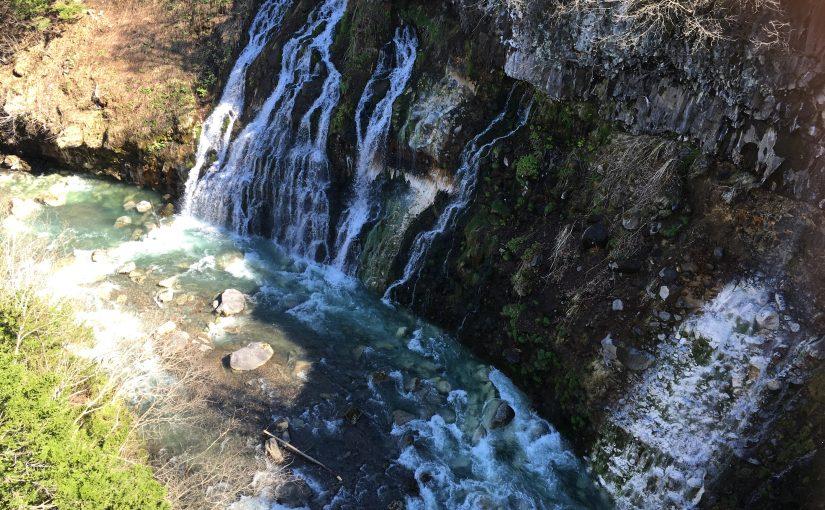 青い池・白ひげの滝ライトアップ